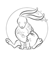 Rabbit - coloring book vector