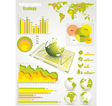 Ecology info graphics collection vector