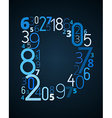 Letter d font from numbers vector