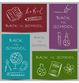 Back to school chalky vector