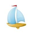 Toy yacht vector