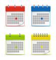 Calendar web colored icons vector
