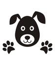 Black dog head vector
