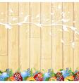 Easter wooden background vector
