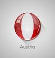 European flags set - austria vector