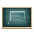 Board laptop vector