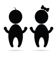 Baby sign silhouette vector