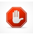 Stop sign red isolated on white vector