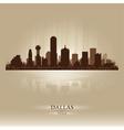 Dallas texas skyline city silhouette vector