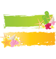 Summer grunge two banners vector