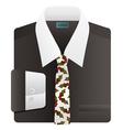 Christmas holly neck tie vector