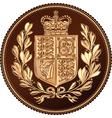 British money gold coin vector