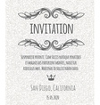 Certificate template invitation with floral design vector