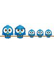 Blue birds family vector