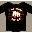 Cool fight club shirt template design vector