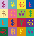 Currency symbols design vector