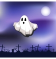 Ghost on cemetery vector