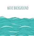 Background with hand drawn waves vector