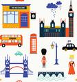 London symbols seamless patt vector