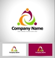 People abstract logo vector