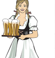 Pub waitress beer festival vector