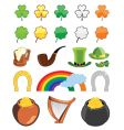 St patrick's day icon set vector