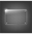 Glass framework on black background vector
