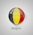 European flags set - belgium vector