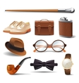 Gentleman realistic set vector