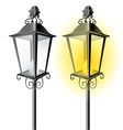 Old vintage street lamp vector