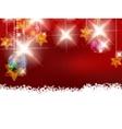 Christmas theme with glass balls vector