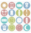 White icons time vector