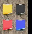 Note papar color set on paper texture texture vector