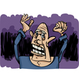Cartoon sketch of scared man vector