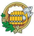 Beer hops vector