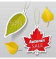 Autumn sale tags 01 vector