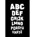 Hand written font type alphabet vector