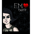 Emo party poster vector