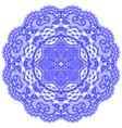 Circle lace ornament round ornamental vector