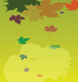 Background with leaves and couple vector