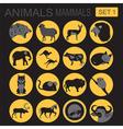 Animals mammals icon set flat style vector