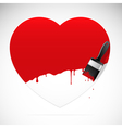 Heart brush vector