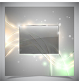 Glass glossy frame abstract background vector