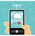 Cloud computing concept application vector