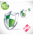 Clean glossy shield vector