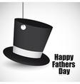 Black top hat hanging vector