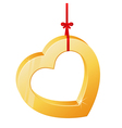 Heart on a ribbon vector