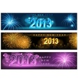 New year banner vector