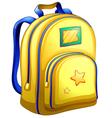 A yellow schoolbag vector