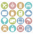 White icons travel vector